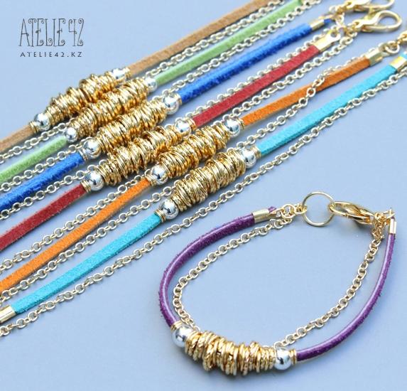 браслеты из шнурков и цепочек