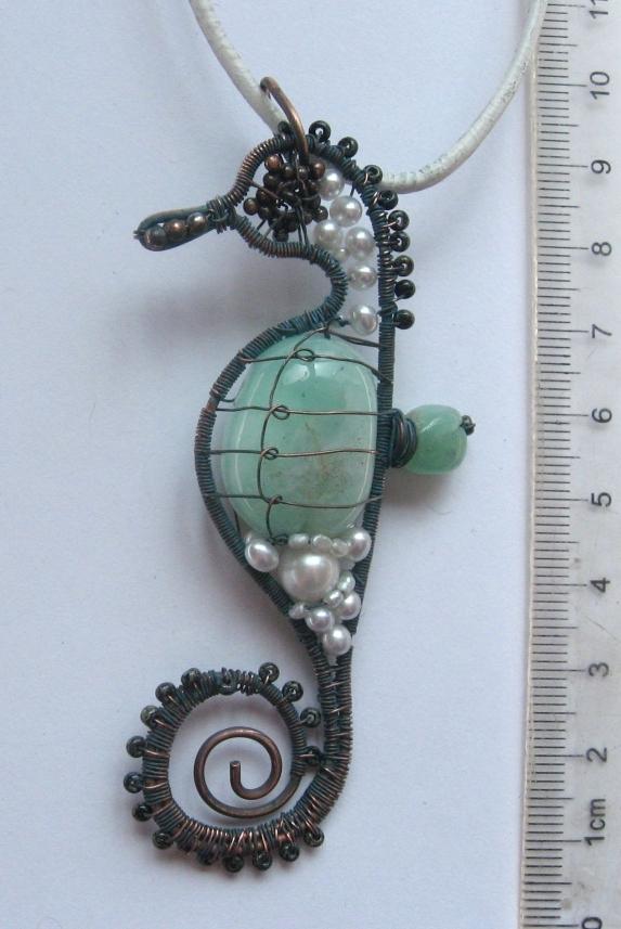 морской конек из проволоки
